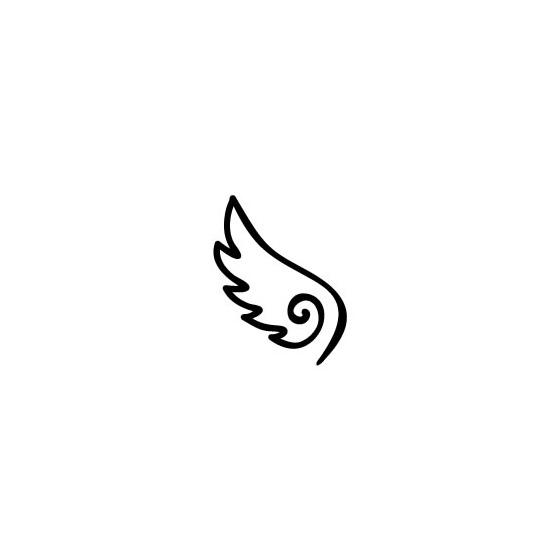 イラストスタンプ 88mm 天使の羽ゴム印の専門店ゴム 印鑑com